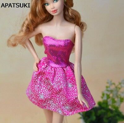 """High Quality Handmade Pink Fashion Short Dress For 11.5"""" Doll Clothes Kids Toy"""