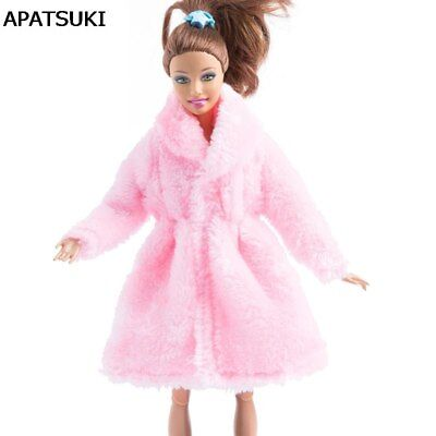 "Sweet Pink Winter Wear Long Coat For 1/6 Dolls Clothes Doll Dress For 11.5"" Doll"