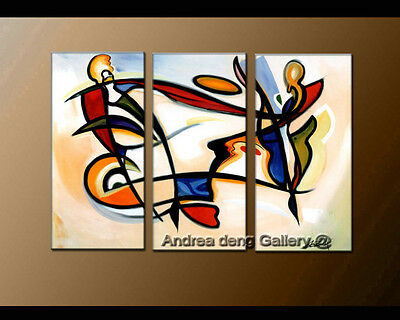 Large Home Décor ART Modern Colorful Abstract OIL Painting Canvas Contemporary