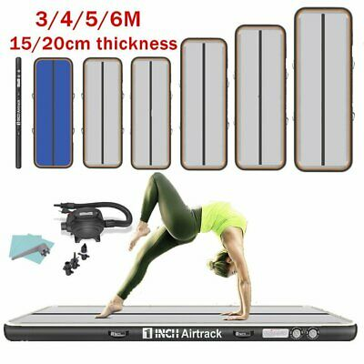 3/4/6m Inflatable AirTrack Tumbling Gymnastic Mat Floor Home Training Yoga Mats
