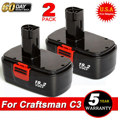 2X For 19.2VOLT CRAFTSMAN C3 11376 BATTERY 130279005 315.11375 130279003 1323903