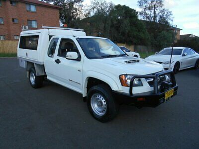 2009 Holden Colorado RC LX (4x4) White Manual 5sp M Space Cab Chassis