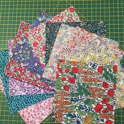 Liberty of London mixed scrap pack/remnants cotton quilting sewing/patchwork/fq
