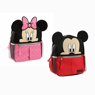 Disney Baby Mickey Minnie Mouse Mini Backpack Safety Harness Straps Toddlers Bag
