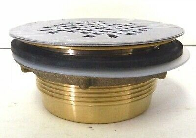 Soux Chief 821-280A Shower Pan Drain Screw-On Stainless Steel Strainer
