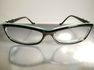 46ad0e06761 NEW Chrome Hearts Bearded Baby Eyeglasses Sterling Silver Black Turquoise  Japan