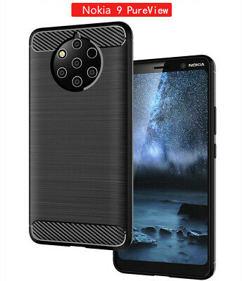 Case For Nokia 9 PureView Luxury Shockproof Carbon Fiber Silicone Soft TPU Cover