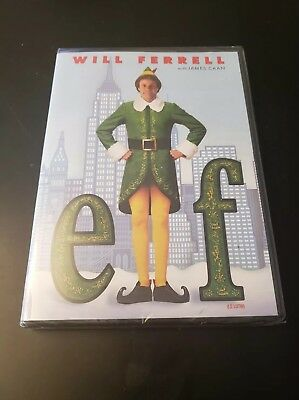 Elf (DVD, 2004) Will Ferrell Brand New Free Shipping Christmas Comedy (SH3)