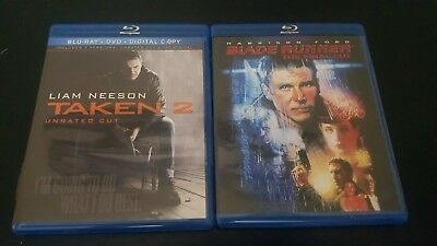 (6A)  Action/Scifi Bluray Dvd Lot Blade Runner Final Cut & Taken 2 Unrated