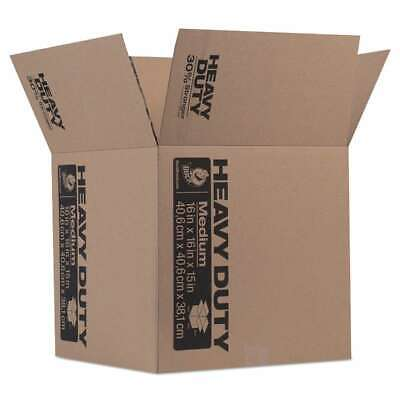 Duck® Heavy-Duty Moving/Storage Boxes, 16l x 16w x 15h, Brown 075353109496