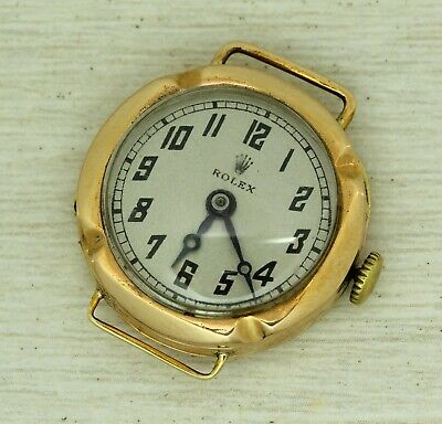ROLEX antique women's 9 ct solid gold mechanical wristwatch, 15 jewels