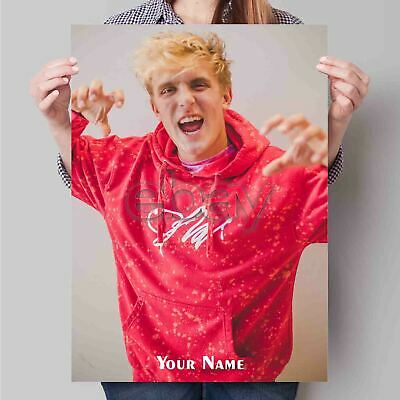 Custom Personalized Silk Poster Jake Paul Wall Decor