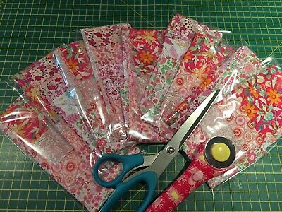 Liberty of London pinks scrap pack/remnants cotton quilting sewing/patchwork/fq