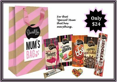 Darrell Lea Mothers Day Gift Bag 1.095Kg Of Chocolates & Treats Liquorice Ect