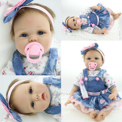 Vinyl Silicone Reborn Doll Real Life Like Looking 22inch Newborn Baby Dolls