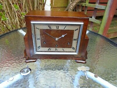 Garrard Quality Fully Restored Westminster Chimes Oak Mantle Clock
