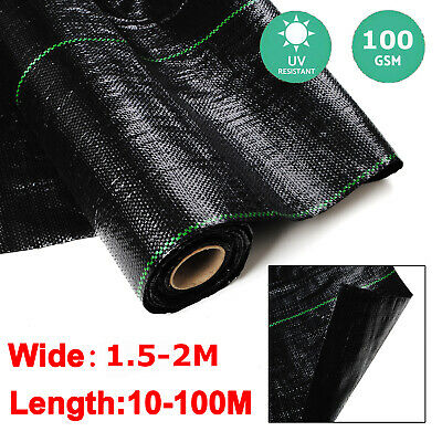 1.5M/2M/4M Wide 100g Weed Control Fabric Ground Cover Membrane Garden Landscape