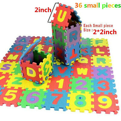 36PCS/Set Baby Kids Alphanumeric Number Educational Puzzle Foam Mats Floor Mats