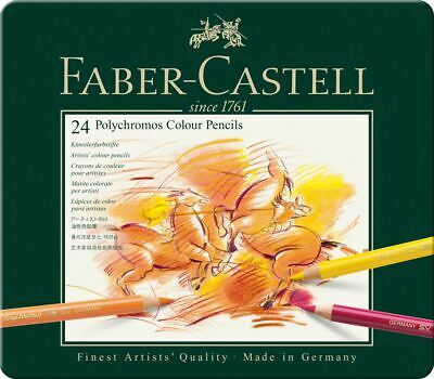 Faber-Castell Polychromos Artists' Colour Pencil 24 Tin Set
