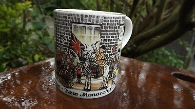 1997  New Labour New Monarchy China Mug Depicts Blairs Thatcher & Queen