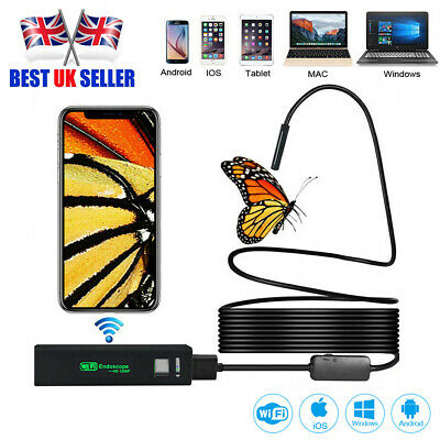 WIFI Endoscope Wireless Cable Borescope Inspection Camera for iPhone Android IOS