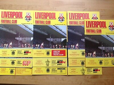 Liverpool  Fc Home Programmes 1985/86 - Select From List