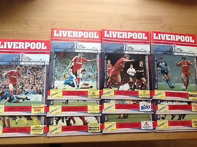 Liverpool Fc Home Programmes 1987/88 - Select From List