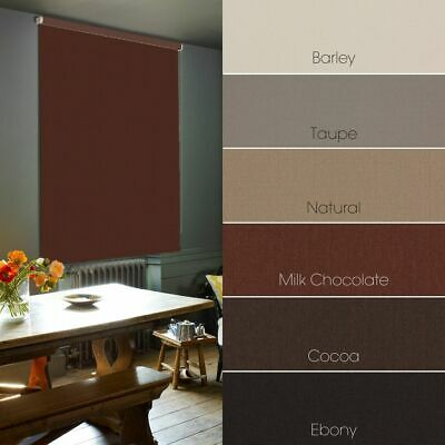 Brown Blackout Roller Blinds - Made To Measure - Extra Wide Widths