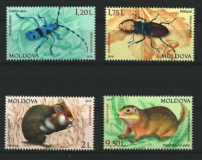 Moldova 2019 Red Book Animals and Insects 4 MNH stamps