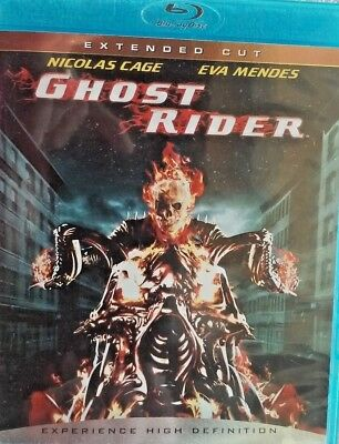 Ghost Rider Extended Cut (Blu-ray Disc, 2007, Extended Cut) Nicolas Cage Marvel