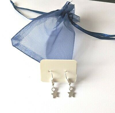 Handmade Silver Plated Earrings with gift bag Stars /& Flowers choose style