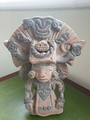 Terracotta Figurine Aztec Mayan Inca Mexican Colombian Statue