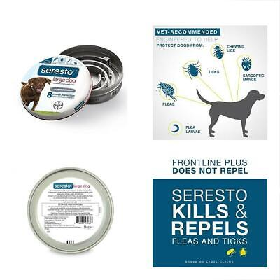 Large SERESTO Flea&Tick 8 month old collar with over 18 pounds of large dogs
