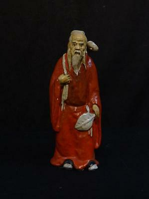 Antique Pottery Figure of an Oriental Gent Circa 19th Century