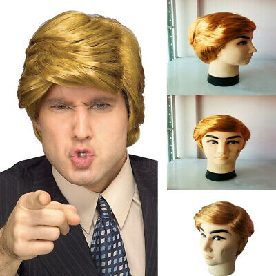 Donald Trump Hair Wig Costume Halloween Billionaire Fancy Dress Party Accessory