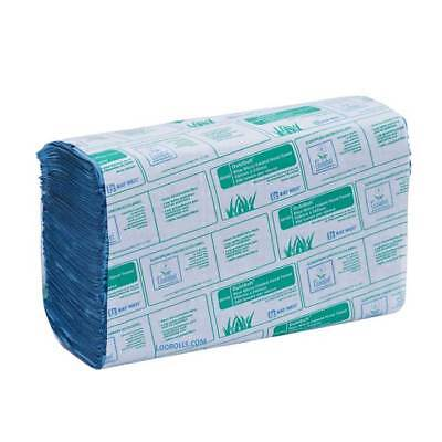 Baywest Micro Folded Z Fold Paper Hand Towels - Blue - Case of 3000 Sheets