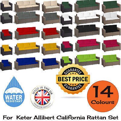 For Keter Allibert California Cushion Pads Rattan Garden Furniture Sofa Armchair