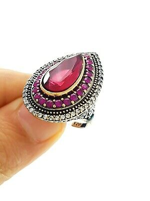 Turkish Ottoman Jewellery From Grand Bazaar Istanbul Antique Silver Ring D1119