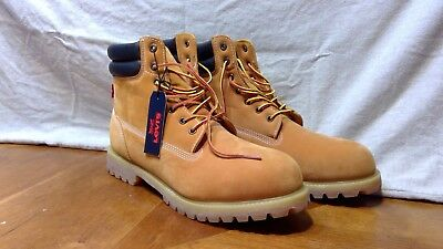 9394f2405e6 LEVIS HARRISON WHEAT Leather Suede Lace Up Boots 51741011B Men's Size 13 NEW