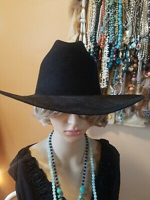 fe2c12e4 Stetson cowboy hat 7 1/4 Black 4X Beaver New Lining Is Coming Detached