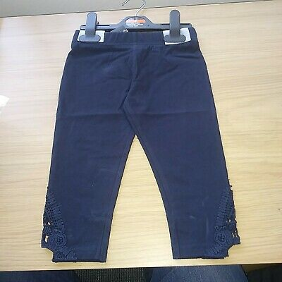 Girls Navy blue Leggings size 7 Years new tags ex store FREE POSTAGE.