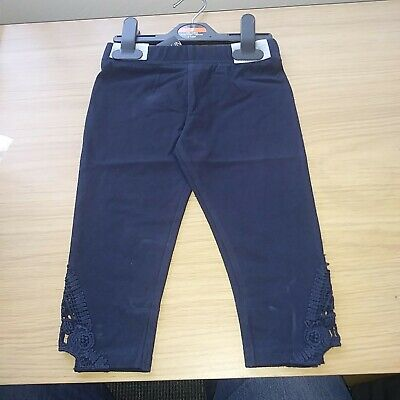 Girls Navy blue Leggings size 6 Years new tags ex store FREE POSTAGE.