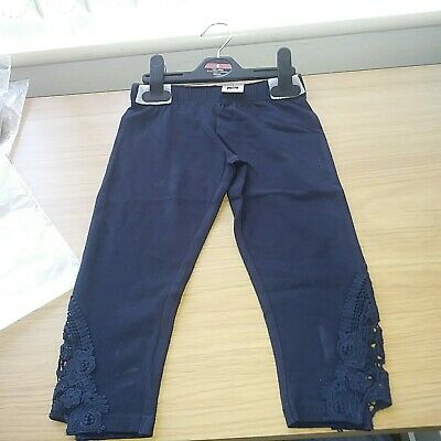 Girls Navy blue Leggings size 4 Years new tags FREE POSTAGE BARGAIN CLEARANCE .