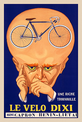 Le Velo Dixi Vintage Bicycle Poster Print Art Advertisement - Cycling