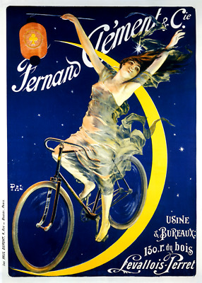 Fernand Clement Vintage Bicycle Poster Print by PAL - Cycling