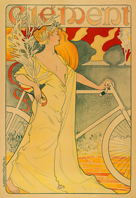 Clement Vintage Bicycle Poster Print  - Cycling