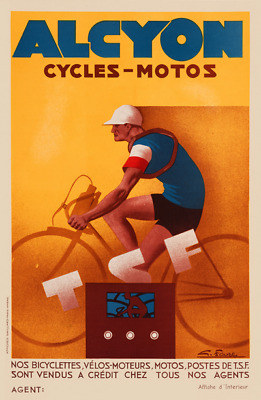 Alcyon Vintage Bicycle Poster Print Art Advertisement - Cycling - Art Deco