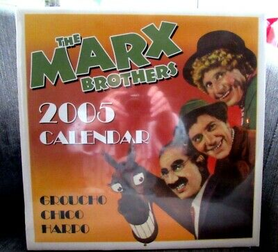 The Marx Brothers Large 2005 Calendar New and Factory Sealed