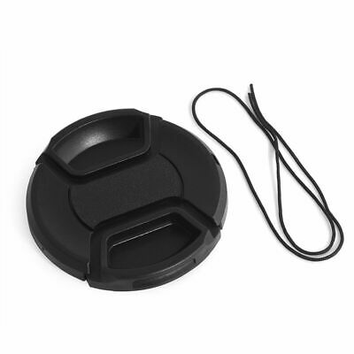 52mm Center-Pinch Snap-On Front Lens Cap with Cord for Canon Nikon Pentax Sony