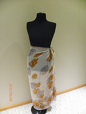 New woman brown Bathing Suit Wrap,Cover Skirt One Size modest swimming swim suit